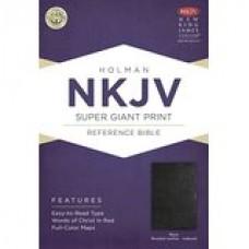 NKJV SUPER GIANT PRINT REFERENCE BLACK BONDED LEATHER INDEX by Broadman & Holman