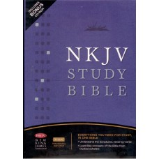 The NKJV Study Bible by Thomas Nelson Leather Bound.