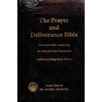 Prayer and Deliverance KJV Bible Large Giant Print Thumb Indexed Edition Leather Bound, By Dr Daniel Olukoya